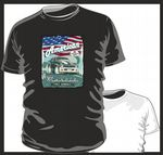 KOOLART AMERICAN MUSCLE CAR Design for Retro 71 Chevy Nova SS mens or ladyfit t-shirt